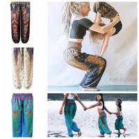 Wholesale bloomers yoga pants resale online - Printing Bloomers pant Action Yoga Pants Adult Children Upon Easy Dance Bloomers Family parent child pants LJJK1851