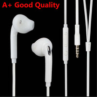 Wholesale samsung s6 earphones online – A Good Quality TPE Headphone In Ear Headset mm Plug Stereo Earphone Mic Remote for Samsung S5 S6 S7 S8 S9 S10 edge Android Smart Phone