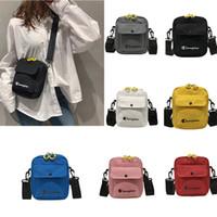 Wholesale handbag double zipper for sale - Group buy Unisex Champion Letters One Shoulder Mini Bag Women Girls Crossbody Canvas Messager Bag Designer Handbag Belt Double Zipper Tote New C51304