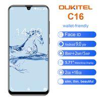 dual sim quad core 5.7 al por mayor-3G WCDMA barato OUKITEL C16 cara Identificación de huellas dactilares 2 GB 16 GB Quad Core MTK6580 Android 9.0 5.71