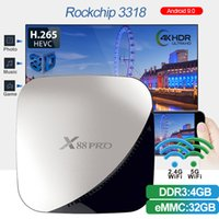 mini kutu 4g toptan satış-ILPO X88 pro Rockchip RK3318 Octa Çekirdek Android 9.0 4G 32G Akıllı TV KUTUSU 2.4g / 5g Çift WiFi 4 k Set Top Box PK X96 mini Medya Oynatıcı