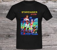 xxl tv hot al por mayor-2019 Venta caliente Moda Starzinger 70's Classic Japan Tv Cartoon Camiseta para hombre Tamaño negro Xs a Xxl Camiseta