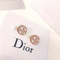 Wholesale D Designer Pearls Earrings Luxury Earrings Ear Cuff France Luxury Brand Earrings Women s Des Boucles D oreilles