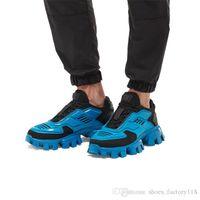 telas amarillas al por mayor-Zapatillas deportivas de punto Cloudbust Thunder Knit para hombre, zapatillas deportivas de tela Eyestay de gran tamaño para hombre Zapatillas deportivas de senderismo en azul amarillo negro