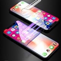 klarer film großhandel-Displayschutzfolie Durchsichtiger weicher TPU-Film Transparenter Hydrogel-Schutzfilm für iPhone XS MAX XR X 8 7 Samsung S10 S9