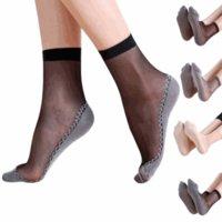 ingrosso calcio di ragazze sexy-4pairs Estate Autunno bambù Sport Yoga Socks Women sottile cristallo trasparente dei calzini di seta Ragazze Sox caviglia delle donne sexy di sport