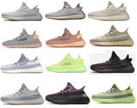 Wholesale floor tails resale online - 2020 men women V2 GID Glow Shoes With Box Yeshaya Earth Tail Light Desert Sage Cinde Yecheil cheap Sneakers Running Shoes