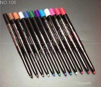 ingrosso migliore ombra di occhio nera-Colori impermeabili Eyeliner Matita per ombretti Matita rotativa automatica Penna multiuso 12 Colori diversi in un pacchetto