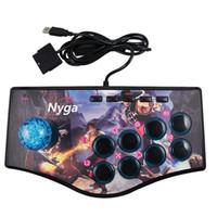 usb ps2 para pc venda por atacado-Retro Arcade Game Rocker Controller Usb Joystick Para Ps2 / Ps3 / Pc / Android Smart TV Embutido Vibrador Oito Direção Joystick
