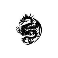 drachen tattoos aufkleber großhandel-Aufkleber Auto Aufkleber Chinesischer Drache Tattoo Verpackung Zubehör Produkt Applikation Dekoratives Muster