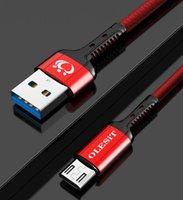 ingrosso doveri al dettaglio-olesit 3FT 3.6A 10FT 2.4A Cavo USB intrecciato resistente tipo-c micro usb cavo di ricarica per Samsung Huawei con vendita al dettaglio