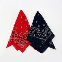 bandana hiphop großhandel-Red Navy Paisley Baumwolle Bandana Hiphop Männer Stirnband Einstecktuch Schals Frauen Taschentuch Headwear