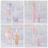 ingrosso ragazza svuotata-Ragazze Lip Gloss Tubi di plastica Tinta fai da te vuoto pacchetto di trucco Lipgloss Liquid Lipstick Case Beauty Packaging HHA103