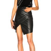 moda de couro maduro venda por atacado-Outono e inverno nova moda bolsa de couro hip saia de Slim madura saia de couro temperamento saia das mulheres sexy