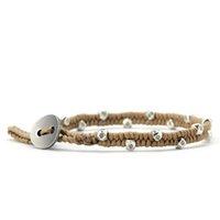 freundschaftsarmbänder wachsen großhandel-Handmade Boho Neue Einfache Antike Silber Tibetischen Perlen Freundschaft Armband