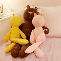 Wholesale pink cot beds for sale - Group buy Baby Cushions Lovely Bear Plush Stuffed Toys Soft White Pink Grey Stuffed Animals Dolls For Kids Baby Cot Bedding Appease Gift