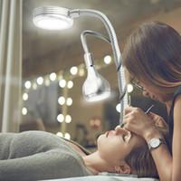tische kunst großhandel-Kreative 2 in 1 Clip Tischlampe Design USB Einstellbare Kaltweißes Schreibtischlicht für Augenbraue Tattoo Nail art Beauty Make-Up Angeln