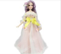 Wholesale names for clothing online - BJD mm for girls cm Joint body Dolls name Ellie purple hair including clothing and shoes stand East Barb