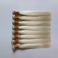 Wholesale russian blonde hair weave resale online - Brazilian Virgin Straight Hair Weave The fashion sexy Bundles Mongolian Russian Blonde Color Human Remy Hair weft extensions