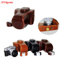 Wholesale case for fuji resale online - PU Leather Camera Case For Fuji XT20 XT X10 XT10 mm Lens Camera Bag Body Set With Strap Black Brown Coffee
