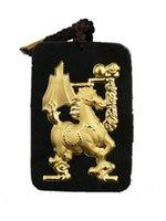 ingrosso ciondolo a cavallo di giada-Fine Jewelry 24K oro cinese verde scuro giada pendente del cavallo collana di corda gioielli da uomo gioielli di lusso