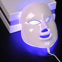 ingrosso fotone ha portato le luci per il viso-7 colori luce fotone LED maschera facciale cura della pelle del viso terapia di ringiovanimento anti-età anti-acne sbiancamento della pelle stringere
