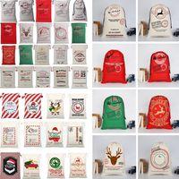 Christmas Gift Bags Large Canvas Bag Santa Sack Drawstring Bag With Reindeers Santa Sack Bags for kids IC727