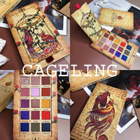 ingrosso kit trucco glitter-Cageling 15 colori Eyeshadow Palette Shimmer Matte Glitter Ombretto Pallete Pigmentato Long-Lasting Kit di trucco impermeabile