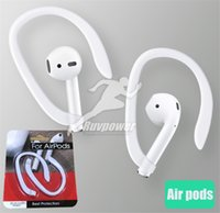 Wholesale delicate accessories for sale - Group buy Delicate Pair Secure Fit Hooks Earhook Holder for Apple Airpods Wireless Earphone Accessories Silicone Sports Anti lost Ear with packing