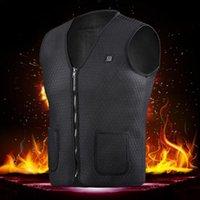 infrarouge thermique achat en gros de-Hommes Femmes Outdoor USB de chauffage à infrarouge Gilet Veste souple électrique vétement Waistcoat Pour Sport Randonnées