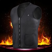 Wholesale winter outdoor jackets for women resale online - Men Women Outdoor USB Infrared Heating Vest Jacket Winter Flexible Electric Thermal Clothing Waistcoat For Sports Hiking