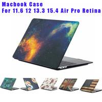 sert mermer mermer toptan satış-Yeni Mermer Yıldızlı gökyüzü Galaxy Hard Case Macbook 11.6 12 13.3 Hava Pro Dokunmatik Bar 15.4 Pro Retina Dizüstü Tam Koruyucu Kılıfla ...