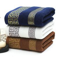 kostenlose badetücher großhandel-Luxus 100% Baumwolle Badetuch Bad Strand Terry Badetücher für Erwachsene Serviette De Bain versandkostenfrei