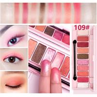 Wholesale live cherry blossom resale online - HOLD LIVE Peach Matte Eyeshadow Palette For Red Shadows Korean Makeup Brand Pink Cherry Blossom Glitter Eyes Shadows Palette Kit