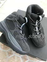 Wholesale mens flat knee boots for sale - Group buy Season Desert Rat New Boot s Graphite black military star Men Seankers kanye west Running Shoes trainers chaussures Mens designer boots