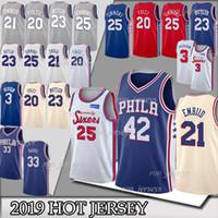 basketball jersey 17 großhandel-25 NCAA Simmons 42 Horford 21 Embiid Trikots 23 Butler 20 Fultz 3 Iverson 33 Harris 17 Redick 19/20 TOP Trikots