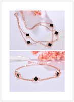 fc68fa90f Fashion original s925 silver four-leaf clover bracelet female jewelry  Christmas gift sterling silver jewelry plant series creative models