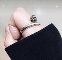 kalça çivisi toptan satış-925 Ayar Gümüş Moda marka CH tasarımcı tırnak yüzük lady Tasarım adam ve Kadınlar için Parti Düğün Severler hediye Lüks Hip hop Takı