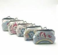 petit porte-monnaie achat en gros de-Animal De Bande Dessinée Licorne Coin Sacs À Main Femmes Hasp Petits Portefeuilles Enfants Mignon Mini Porte-monnaie Lady Pocket