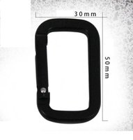 Wholesale snap hooks carabiners resale online - New D shape Square climbing buckle portable carry snap clip hooks aluminum carabiner durable climbing hook outdoor multifunction key chain