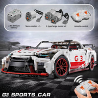 Wholesale nissan sport cars for sale - Group buy Motor Power Technic Nissan GTR GT3 Car Model compatible with ed MOC Sport Car building blocks toys for Children