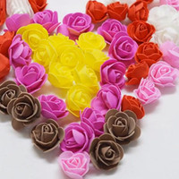 Wholesale mini book pc for sale - Group buy 144 cm Mini Rose Artificial Flower Bouquet Mul ticolor Rose Wedding Flower Decoration Scrap booking Fake