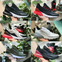 ingrosso punzone piatto-2019 Nike Air Max 270 shoes New airmax Vapormax 270 Hot Parra Punch Photo Flat Feet Blu Rosso Nero Mens Women Shoes Casual Olive Volt Habanero Flair Sneakers EUR36-45