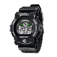 ingrosso orologio militare-Orologio sportivo di moda LED digitale orologio da polso Impermeabile orologio militare bambini studenti luminoso calendario di allarme Orologi Boy Girl Gift Watch