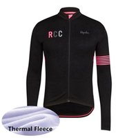 Wholesale rapha bike clothes resale online - Men Cycling Jersey rapha team Winter Thermal Fleece Long Sleeve MTB bicycle Shirt Warm Bike Clothes Outdoor Sports Uniform A53002