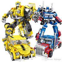 Panlos Transformation Robot City Truck Creator Technic Building Blocks Sets Educational Toy For Children gift no box