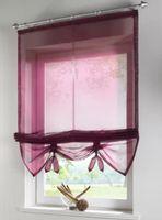 schiere polyesterjalousien großhandel-100% Polyester Schöne Sheer Raffrollos Vorhang für Küche Badezimmer Schlafzimmer-Fenster