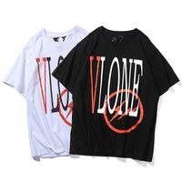 7a37ee4dcd Vlone Fragment Design T-shirt Hombres Mujeres camiseta Harajuku camiseta  Hip hop Streetwear Marca Verano Ropa de algodón Camisetas de impresión Tops  Moda
