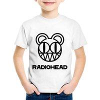 monos de roca al por mayor-Radiohead Band Rock and Roll Impreso Niños Camisetas divertidas Niños Arctic Monkeys Camisetas de verano Niños / Niñas Tops Ropa de bebé, HKP654