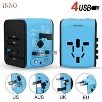Wholesale fuse adapter resale online - AC V V Universal smart travel charger EU US UK AU multi function travel charging adapter USB port V A with Security Fuse